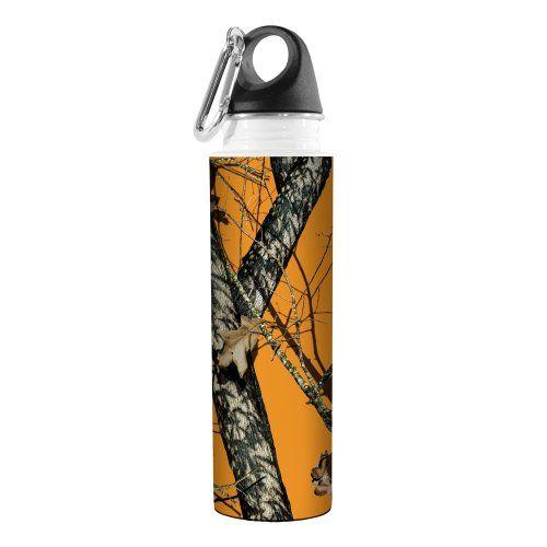18-Ounce Tree-Free Greetings VB48970 Artful Traveler Stainless Water Bottle Blaze Mossy Oak Camo
