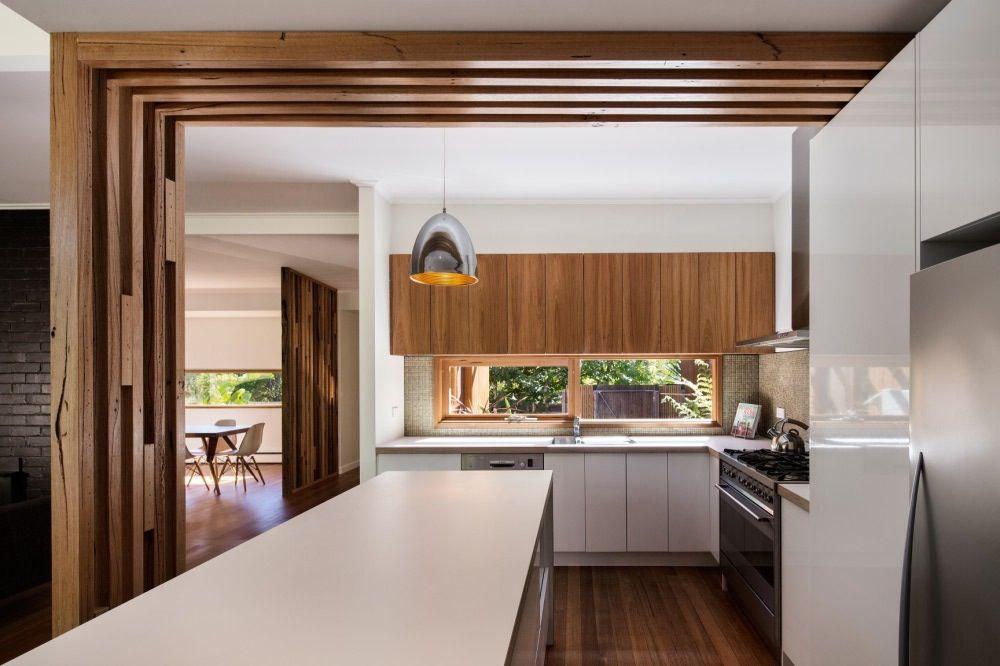 Timber Feature Under Bulkhead Renovation Storage