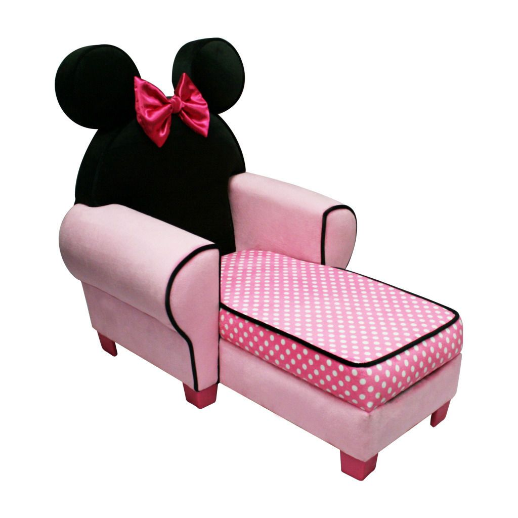 Minnie Chaise Lounge Chair Minnie Mouse Chair Minnie Mouse