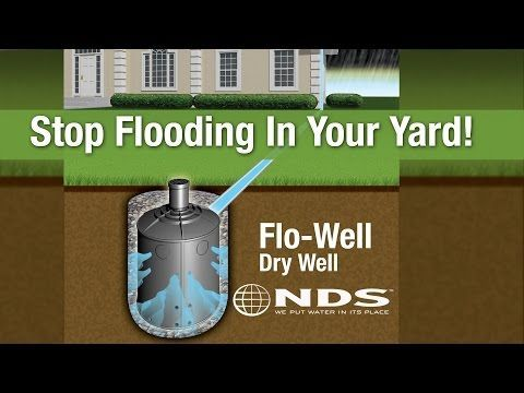 How to install nds flowell dry well drainage system for Good drainage system