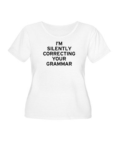 Another great find on #zulily! White Grammar Classic