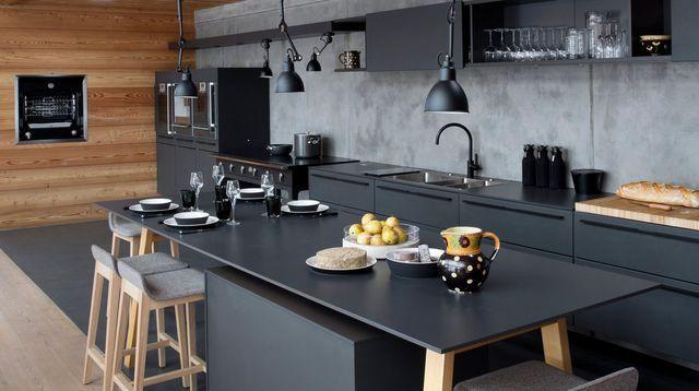 Cuisines Canon Qui Misent Sur Le Noir Idées Pour La Maison - Carrelage mural noir pour idees de deco de cuisine