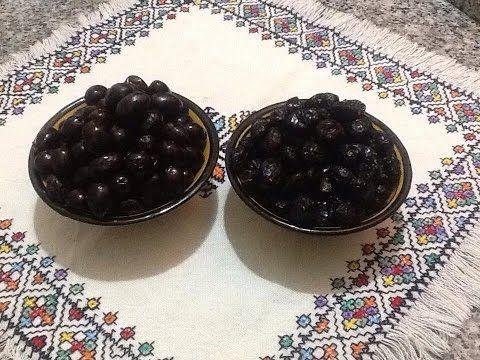 طريقة تصبير الزيتون الاسود و الاحتفاض به في المجمد بطريقتين مختلفتين Olive Noir En Conserve Youtube Arabic Food Food Desserts