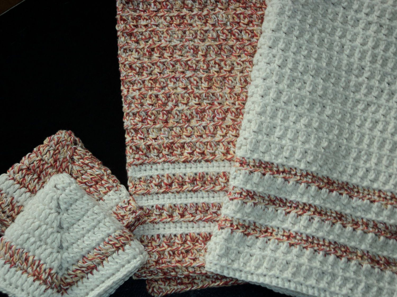 crochet dish towels | Crochet Dish Towel Set | Crocheting ...