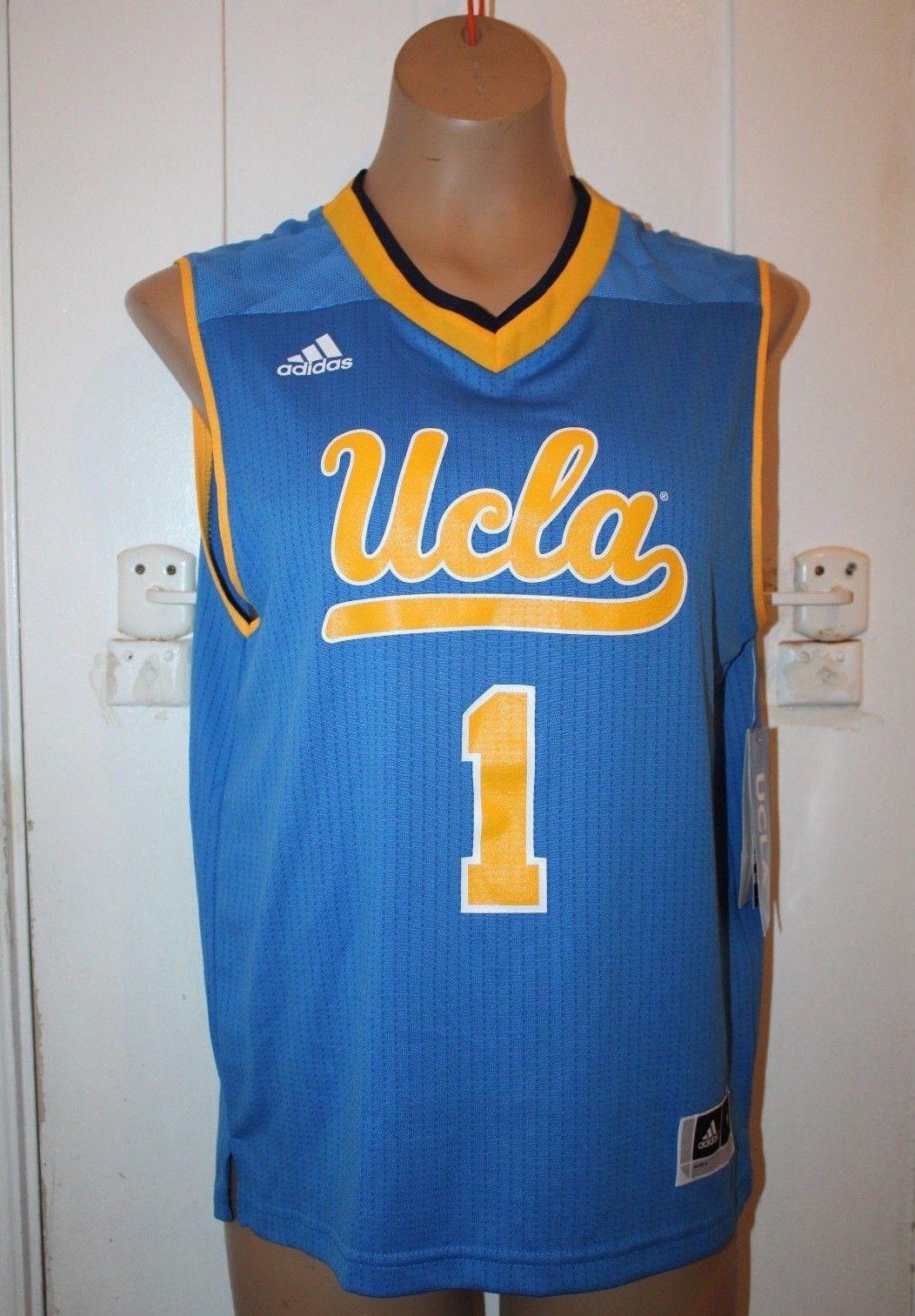 ADIDAS NCAA UCLA Bruins Youth Medium (10-12)  1 Blue Basketball Jersey 072ebff4c
