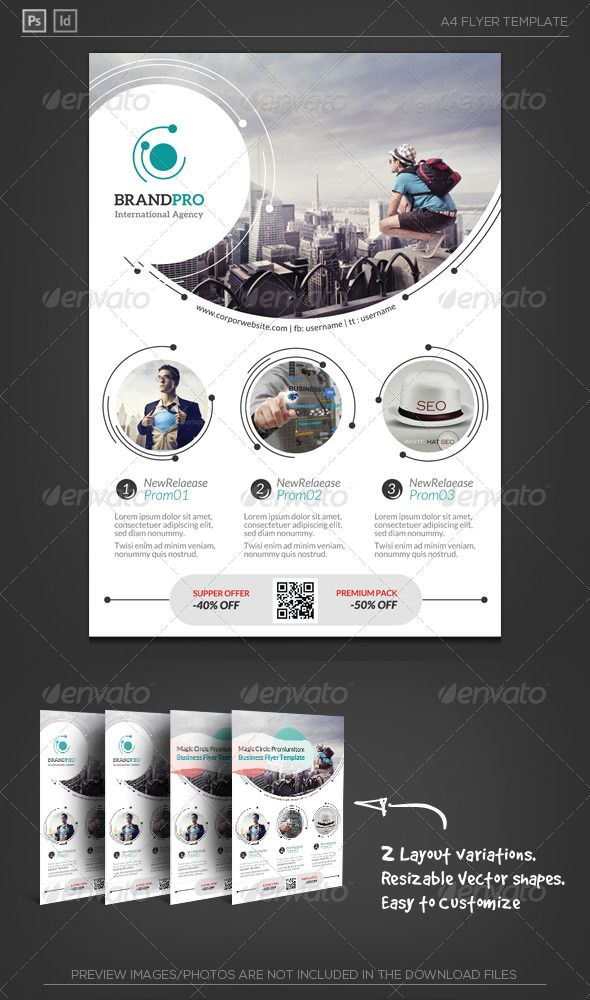Magic Circle II - Corporate Flyer Magic circle, Flyer template - studio brochure