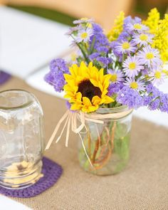 Sunflower And Lavender Wedding On Pinterest Sunflowers Lavender Sunflower Wedding Wedding Flowers Sunflowers Sunflower Wedding Bouquet