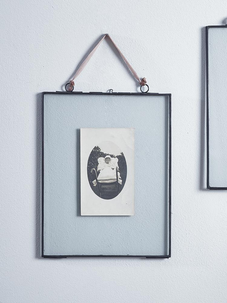 NEW Delicate Hanging Glass Frame - Black - Indoor Living   Living ...