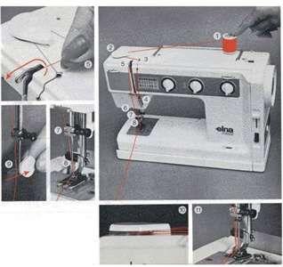 Elna Machine Threading And Bobbin Sewing Machine Machine Sewing