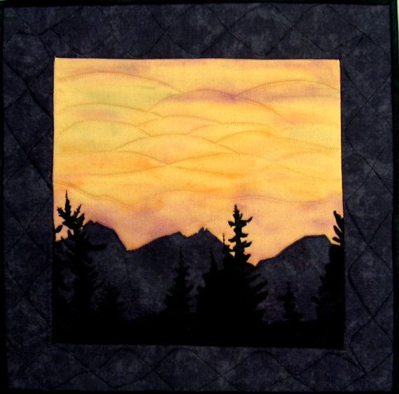 Quilted Wall Hanging THREE SISTERS of OREGON by Ginny McVickar via ...