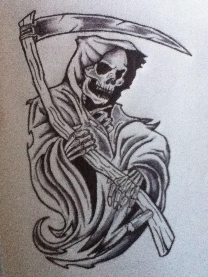 Grim Reaper Grim Reaper Tattoo Reaper Drawing Reaper Tattoo