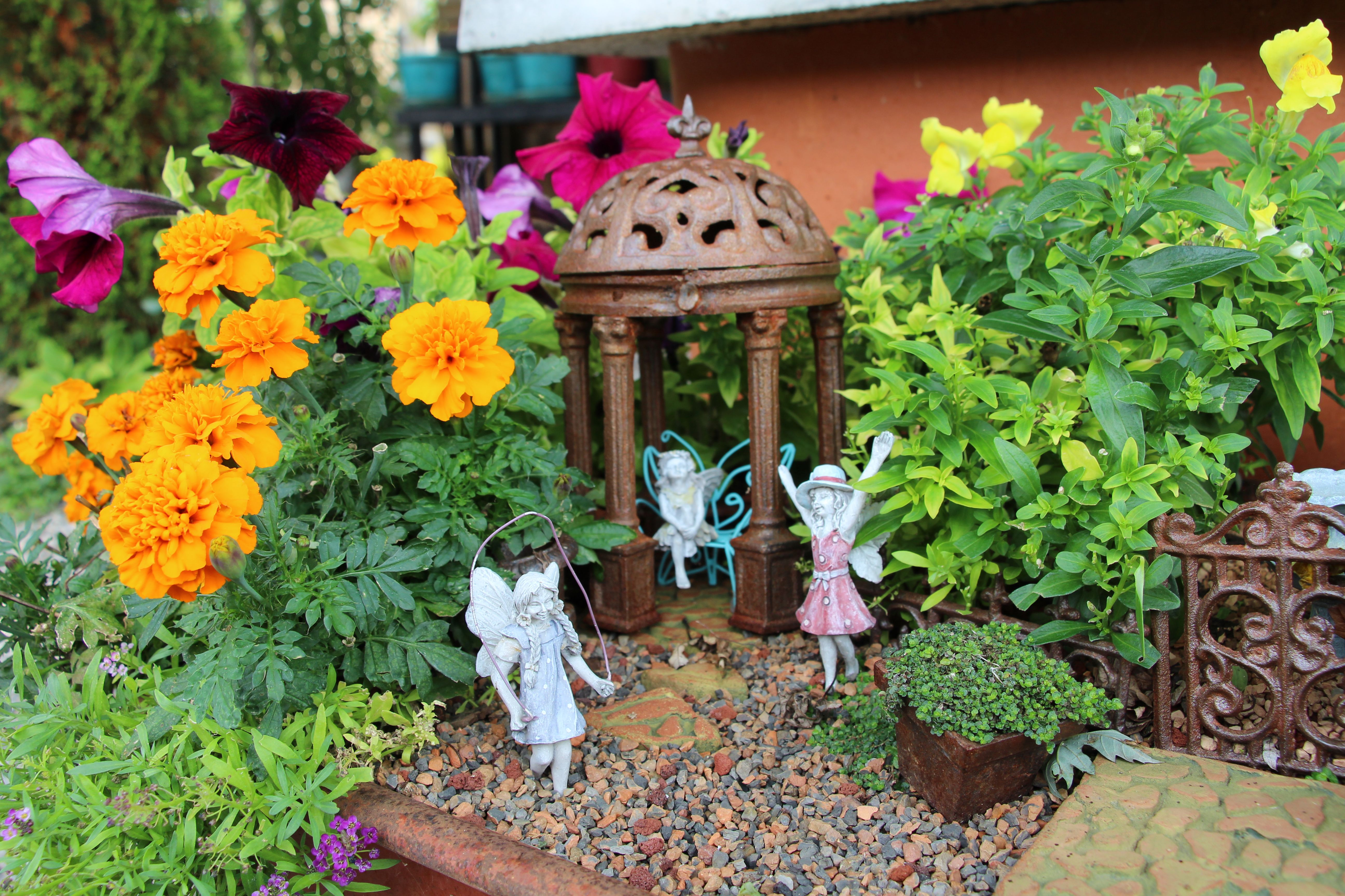 Outdoor Fairy Garden, Including Fun Annuals For Color Is A Great Way To  Brighten Up