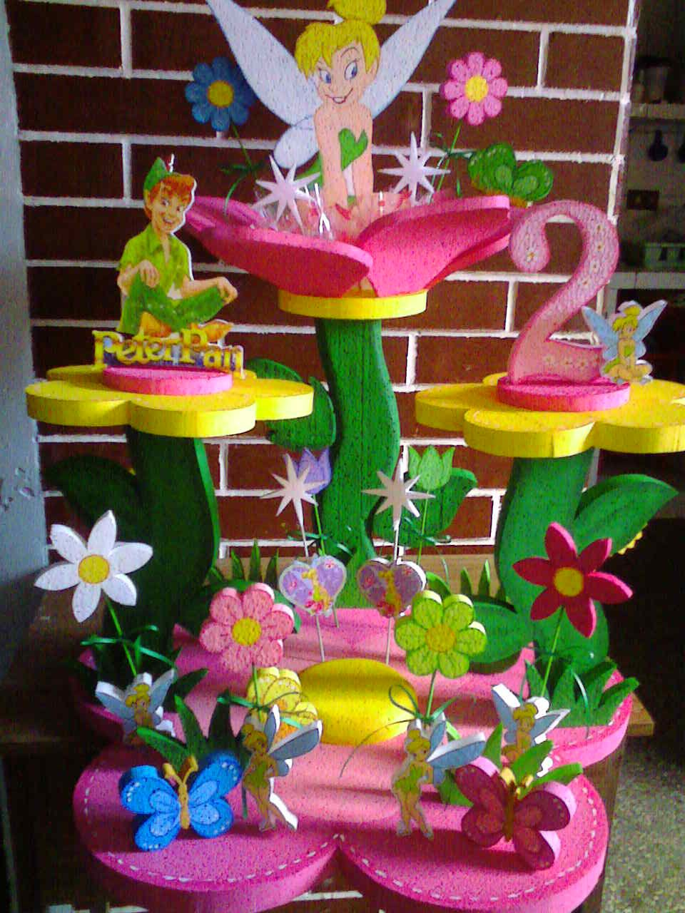 Chupetera para fiesta infantil campanita mis trabajos for Mesas fiestas infantiles