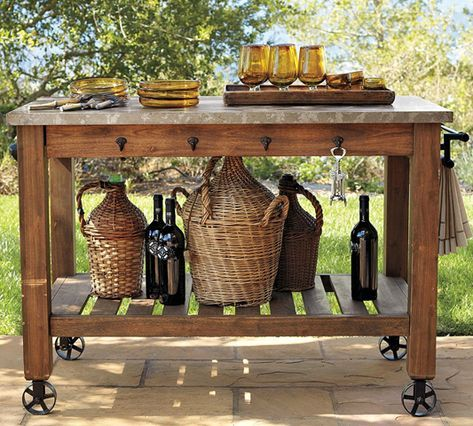 build a potting table great for parties too potting tables serving table decor on outdoor kitchen on wheels id=97297