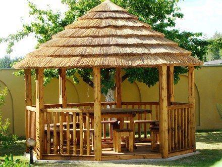 Cubiertas tropicales sombrillas y gazebos casas for Disenos de kioscos de madera