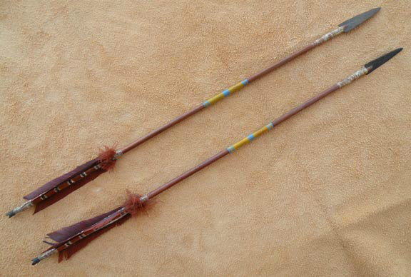 Check out http://kickingwolf.com!  Miscellaneous native american replica items.