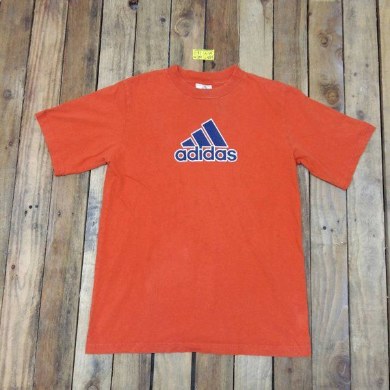 e0b7e4746 ADIDAS EQUIPMENT Tshirt Women Men Xlarge Orange Vintage 90 s Adidas Three  Stripes Streetwear Swag Sportswear Tee Tshirt Size XL