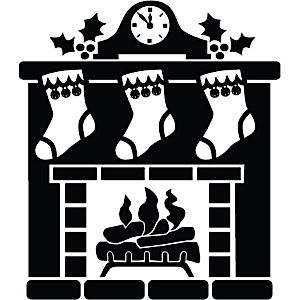 Fireplace & Stockings | Christmas Silhouettes | Christmas ...