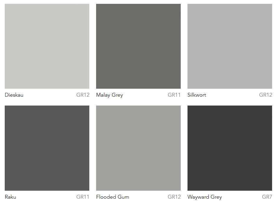 Dulux Most Por Grey Paint Colours Warm Greys