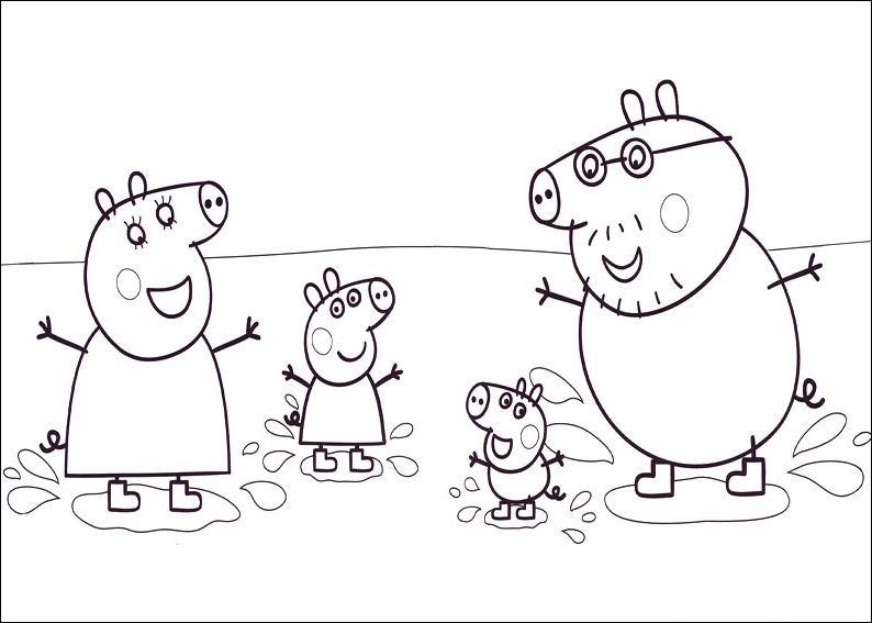 peppa pig para colorear best coloring pages for kids - Peppa Pig Coloring Pages Kids