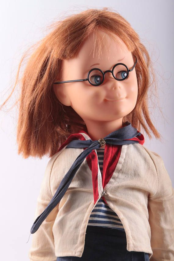 Mattel Chatty Cathy Charmin Vintage Doll Red Hair Uniform Gles Blue Eyes Scout Dressed Shoes The Pink Room 170226 By Thepinkroom