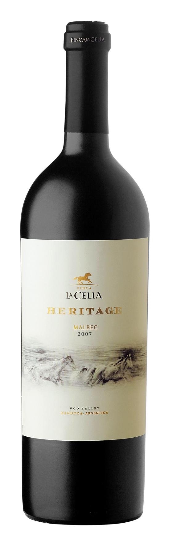 heritage malbec finca la celia malbec world day wine label mxm wine label pinterest. Black Bedroom Furniture Sets. Home Design Ideas