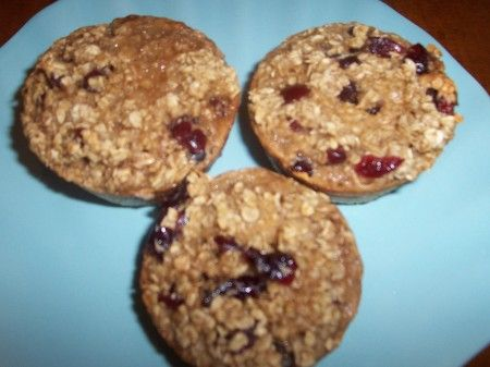 Oatmeal Craisin Protein Muffins