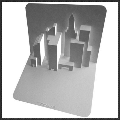 New York Skyline Pop Up Free Paper Craft Download