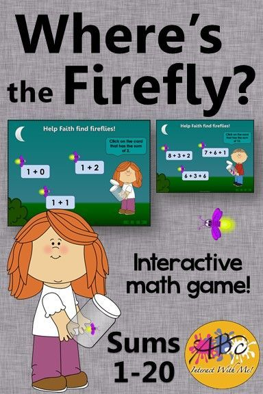 Where\'s the Firefly? Sums 1 to 20 (Interactive Addition Game) | Fun ...