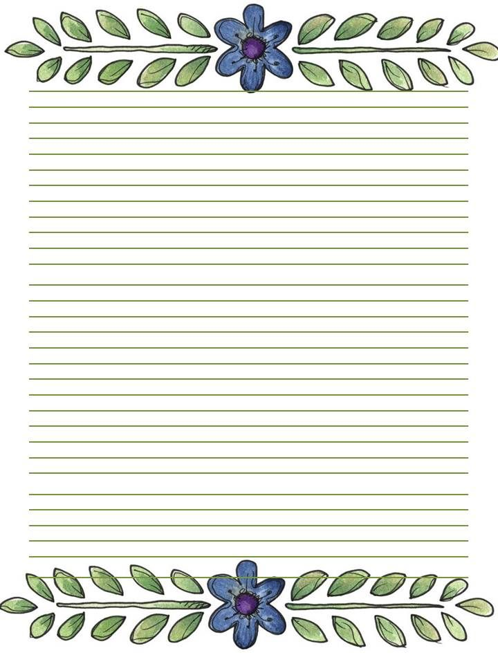printable stationary journal page letter borders frames