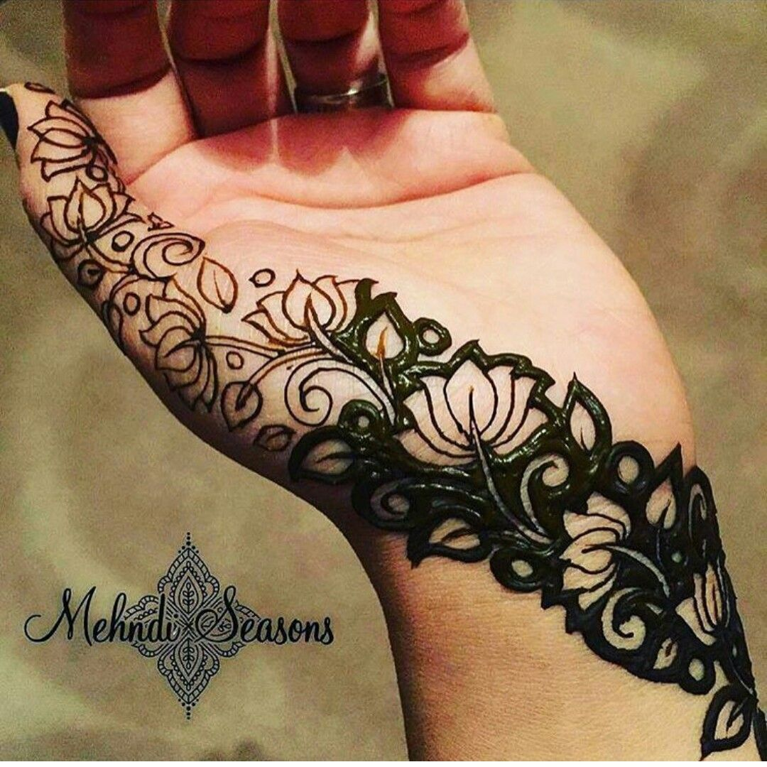 Cool Mehndi Designs: A Beautiful Veil Design For Hint Of Mehendi On Your Hand