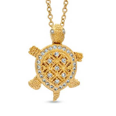 Ava nadri crystal turtle pendant in brass with 18k gold plate 16 ava nadri crystal turtle pendant in brass with 18k gold plate 16 aloadofball Choice Image