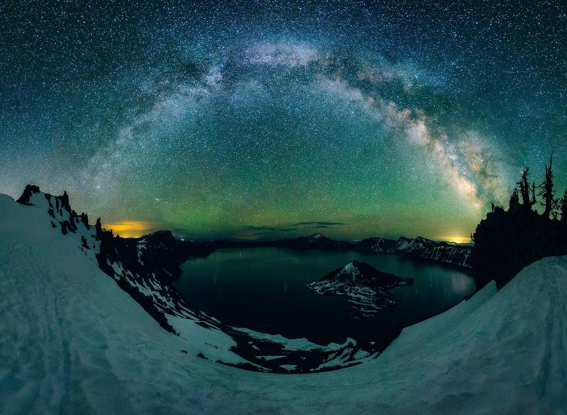 Northern Hemisphere Milky Way - Crater Lake Oregon [OC] #craterlakeoregon Northern Hemisphere Milky Way - Crater Lake Oregon [OC] #craterlakeoregon
