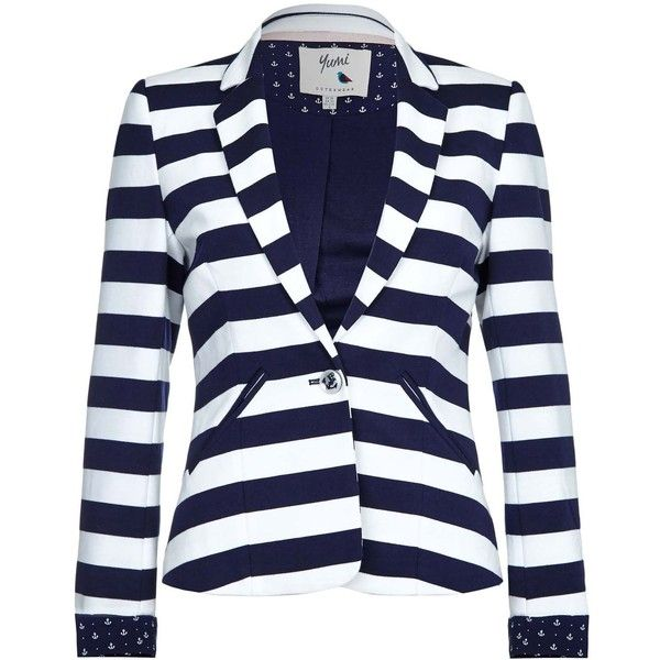 Black and white striped blazer for sale