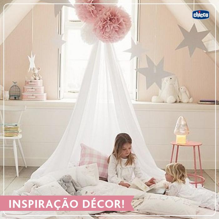 Inspiração Décor!  Mudar a decoração do quarto das crianças é sempre uma boa ideia. Mas lembre-se: esse ambiente tem que ser pensado de forma que a criança fique segura e livre ao mesmo tempo.