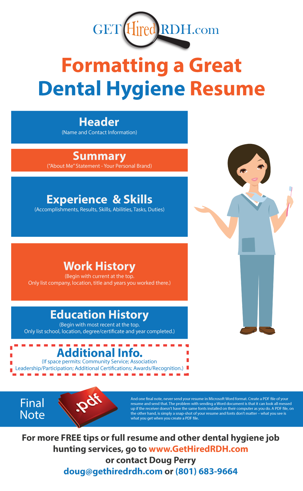 Formatting a Great Dental Hygiene Resume www.gethiredrdh