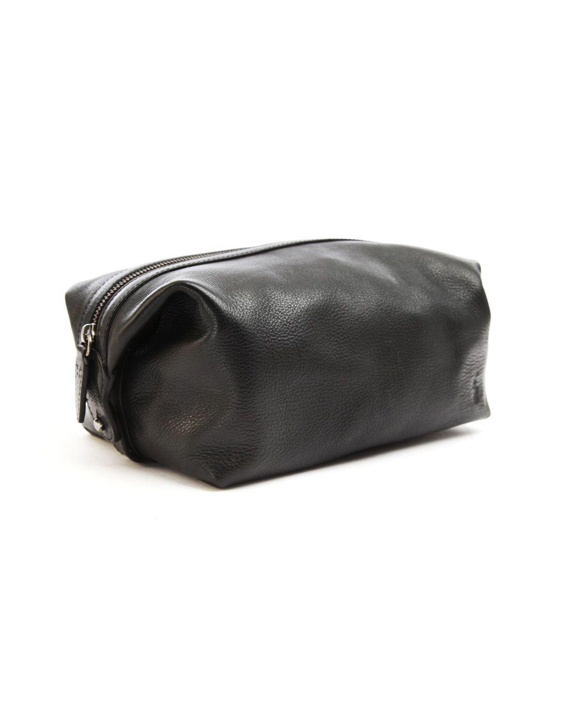 61ac0b749439 Polo Ralph Lauren Black Leather Washbag in Black for Men