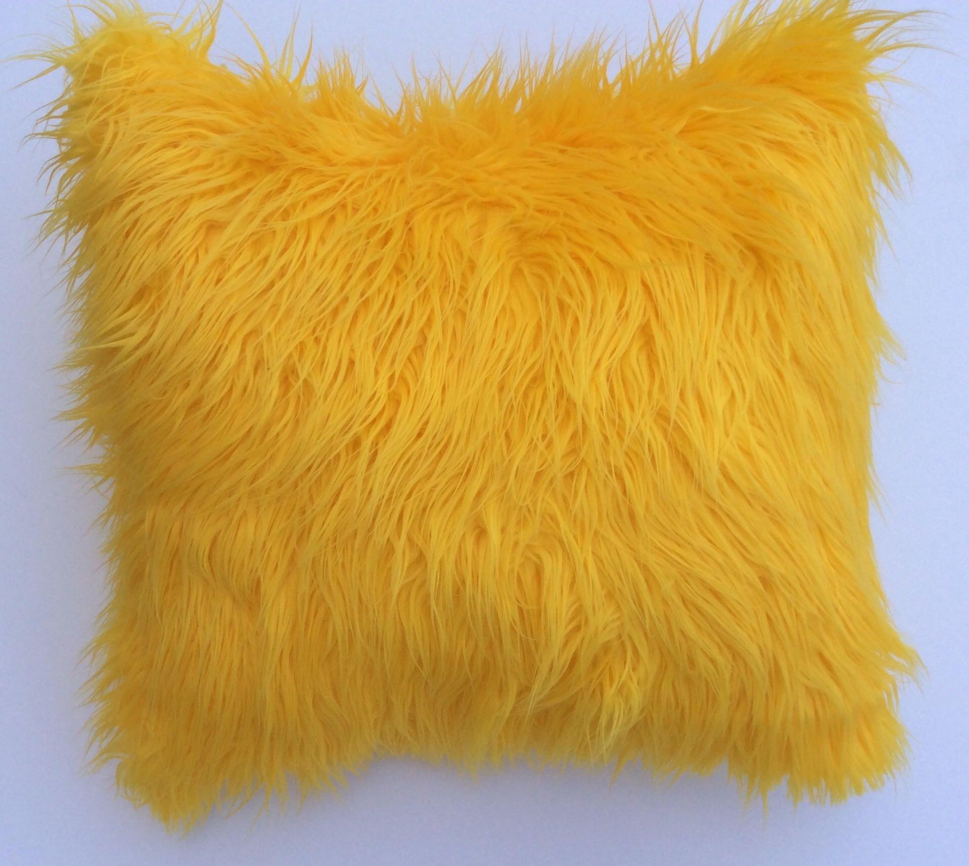 pillow cover gold faux fur pillow throw