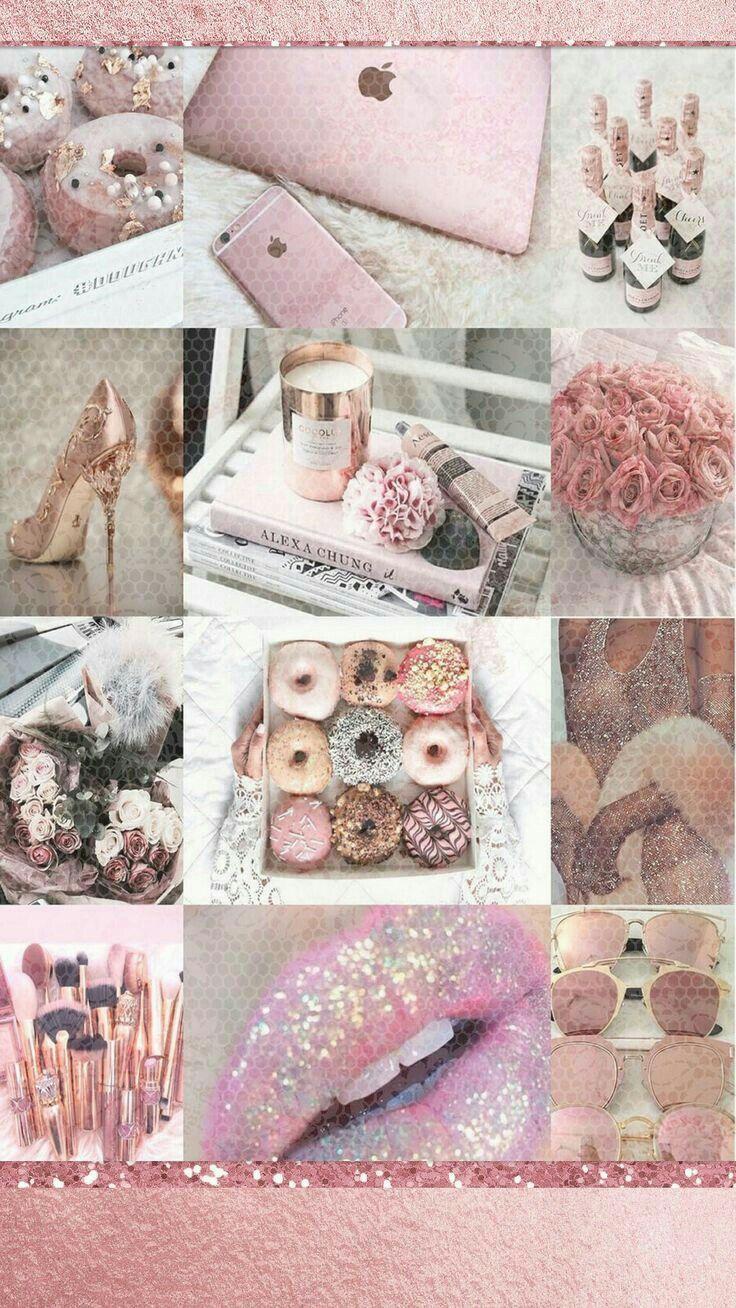 Pin By Barbie Doll Gang On C O L L A G E Iphone Wallpaper Girly Rose Gold Wallpaper Pink Aesthetic