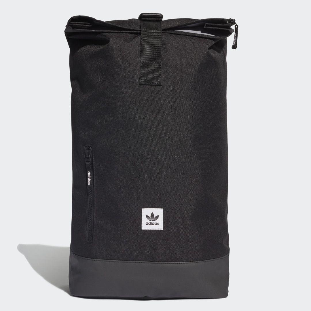 Premium Essentials Roll Top Backpack In 2020 Top Backpacks Black Backpack Backpacks