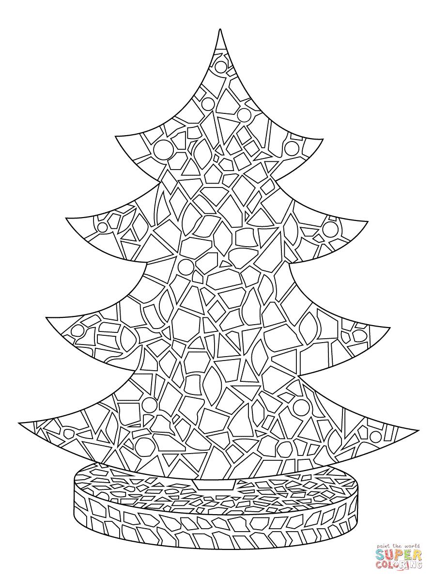 Christmas Tree Mosaic   Super Coloring   Mosaic   Pinterest ...