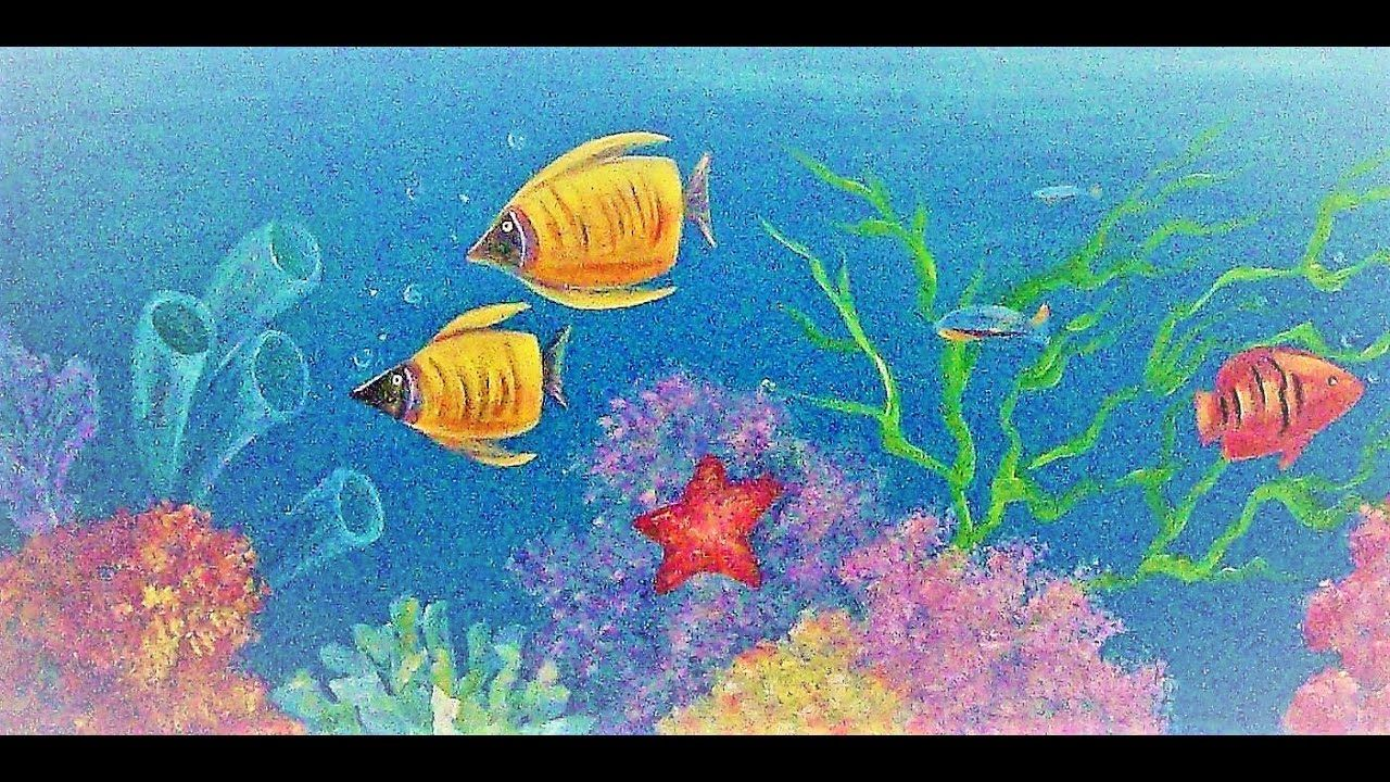Ocean Coral Reef Acrylic Painting Tutorial Live Beginner Lesson How T Abstract Art Paintings Acrylics Painting Tutorial Abstract Painting Acrylic