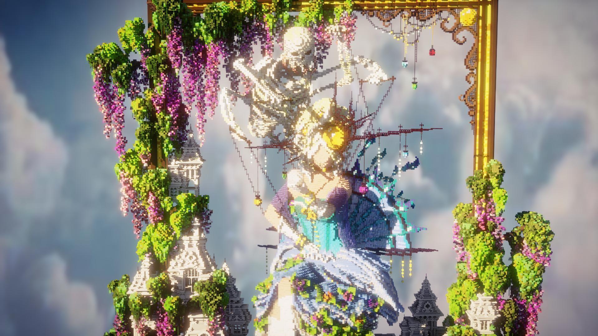 Artista Do Minecraft Faz Lindas Esculturas Dentro Do Jogo Artistas Esculturas Obras De Arte