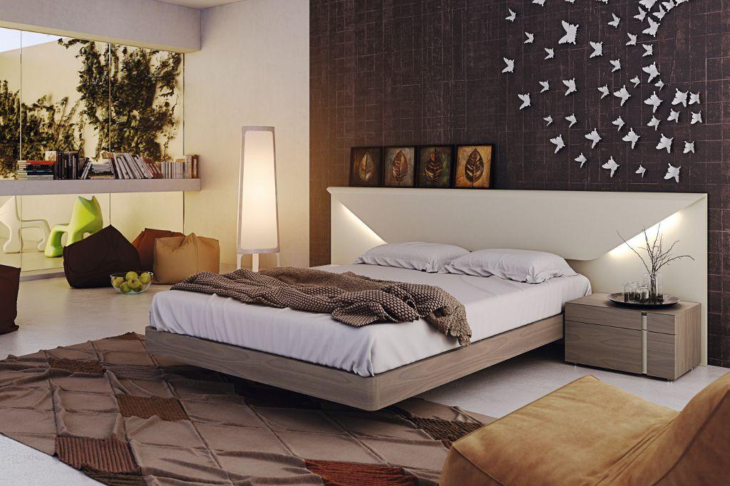 Dormitorio moderno lacado con iluminaci n dormitorio - Iluminacion habitacion matrimonio ...