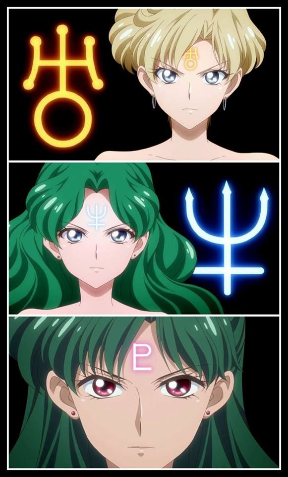 Outer Senshi With Symbol By Sailor Moon Crystal Iii Pretty