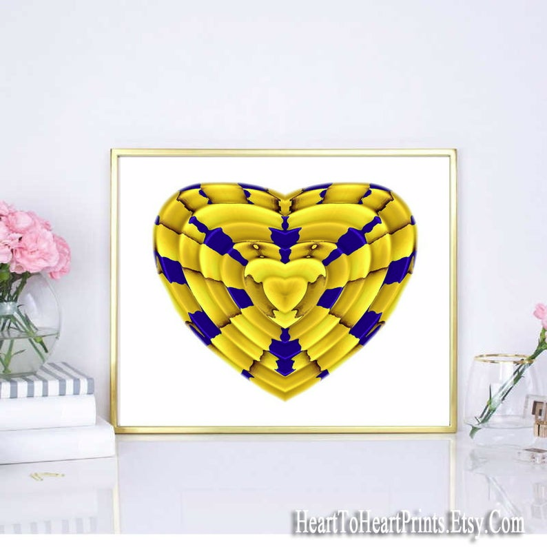 Gold Heart Printable Wall Art Gold Love Digital Download Art Anniversary Wedding Birthday Gift Valentine S Day Gift For Her Woman Couple Printable Wall Art Wall Printables Wall Art