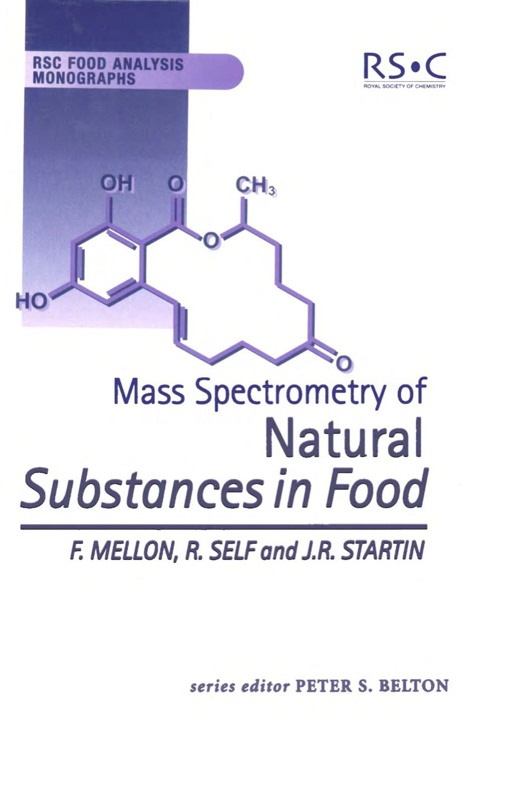Mass Spectrometry Of Natural Substances In Food Ebook In