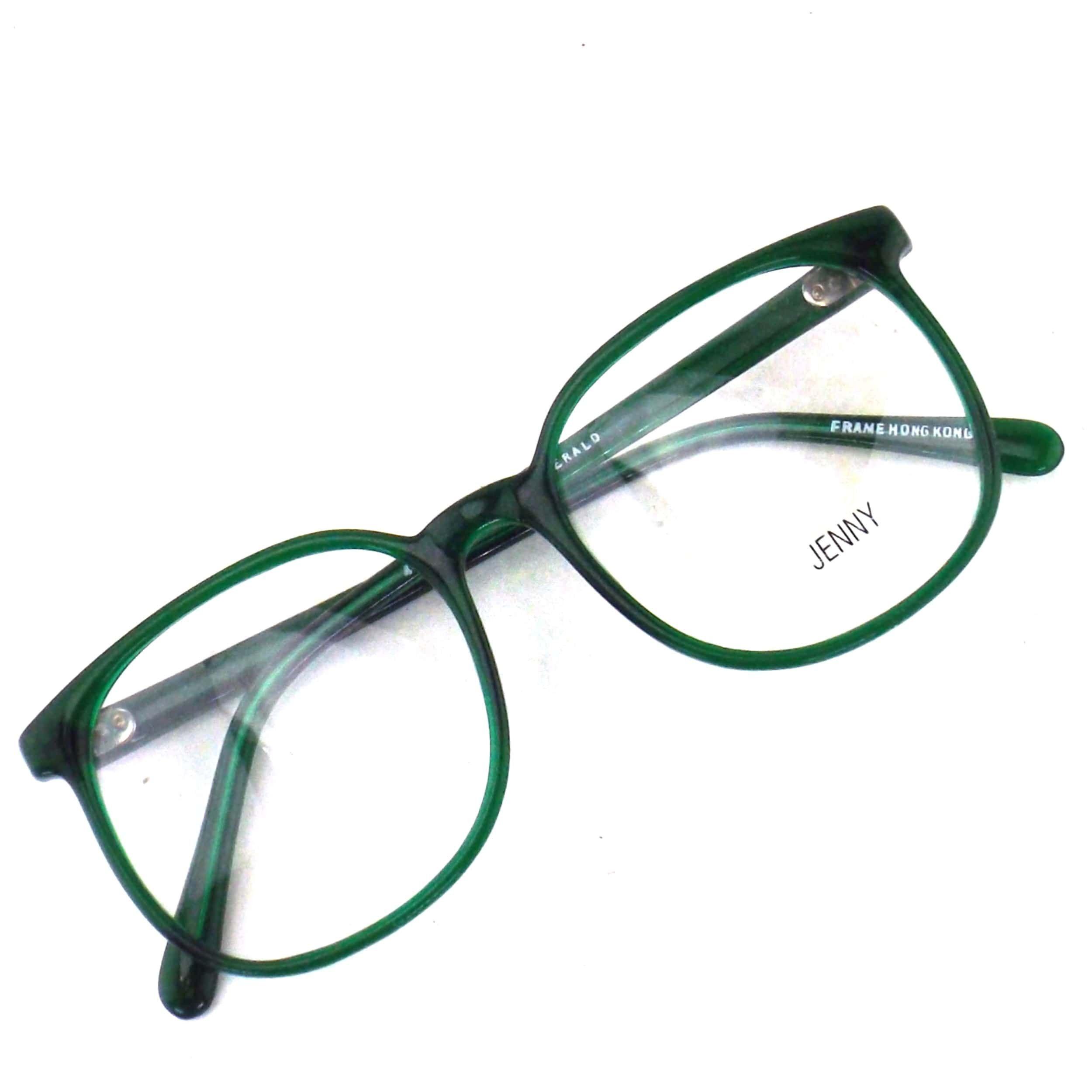 Photo of Round emerald green eyeglasses  plastic frame eye glasses  | Etsy