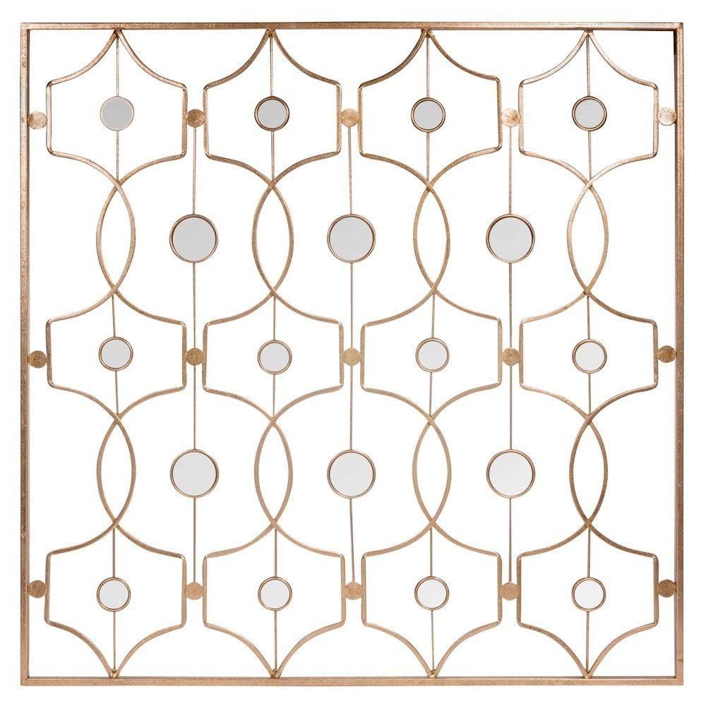 Gatsby goldcoloured metal wall art the great gatsby