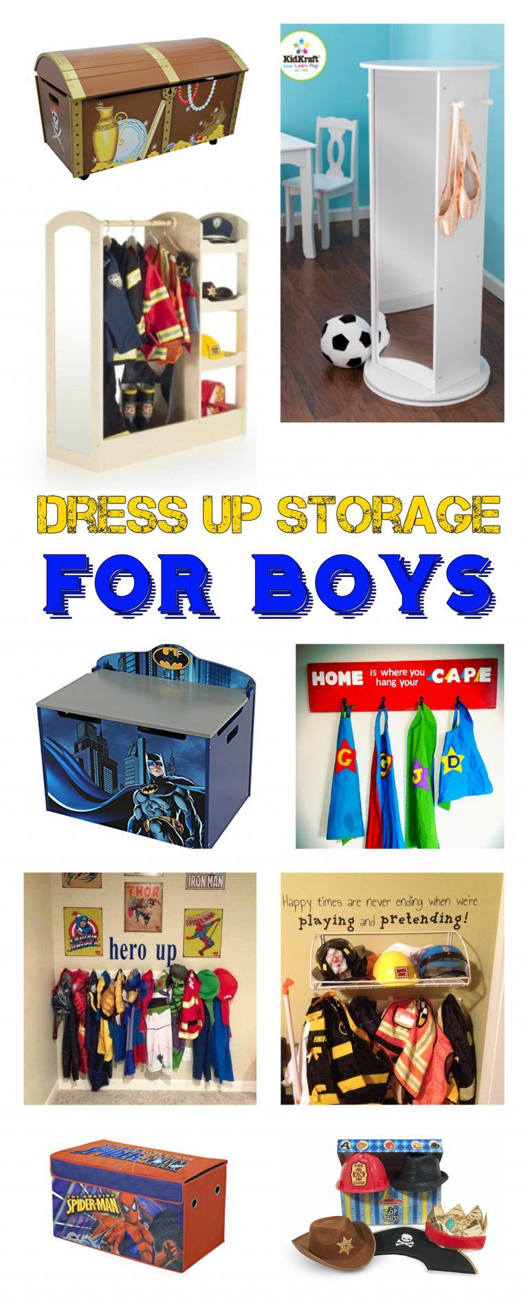 Dress up storage for boys need something great for your